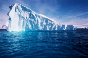 Iceberg in Blue Antarctic Waters